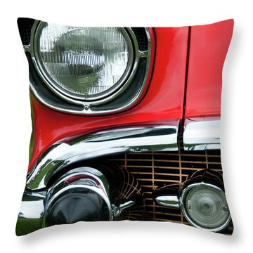 57 Chevy Right Front 8561 Throw Pillow by Guy Whiteley