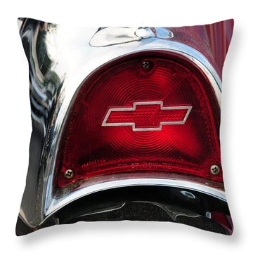 57 Chevy Tail Light Throw Pillow by Paul Ward