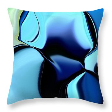 Throw Pillow featuring the digital art 57 Distortions 2 by Greg Moores