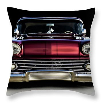 '58 Impala Custom Throw Pillow