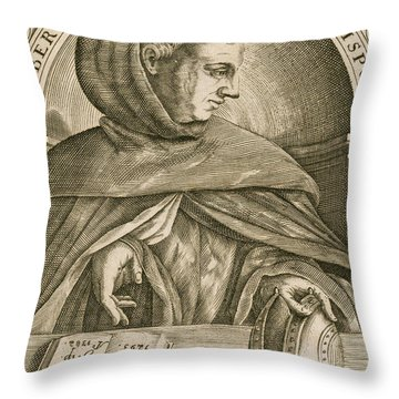 Albertus Magnus, Medieval Philosopher Throw Pillow by Science Source
