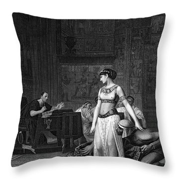 Cleopatra Vii (69-30 B.c.) Throw Pillow by Granger