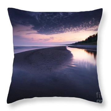 Long Point Beach Throw Pillow by Oleksiy Maksymenko