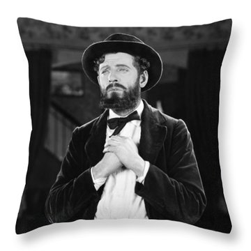 Silent Still: Single Man Throw Pillow by Granger