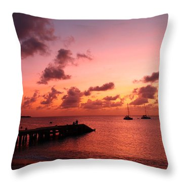 Sunset Throw Pillow by Catie Canetti