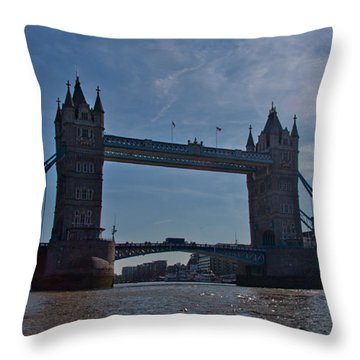 Tower Bridge Throw Pillow by Dawn OConnor