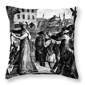 Voltaire: Candide Throw Pillow by Granger
