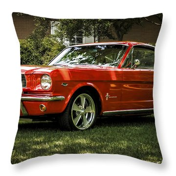 '66 Mustang Throw Pillow