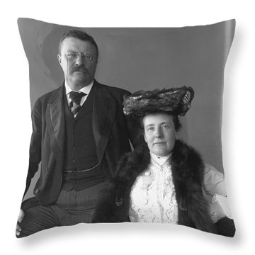 Theodore Roosevelt Throw Pillow by Granger
