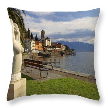 Brissago - Ticino Throw Pillow by Joana Kruse