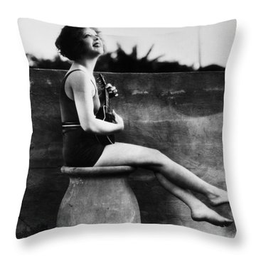 Clara Bow (1905-1965) Throw Pillow by Granger