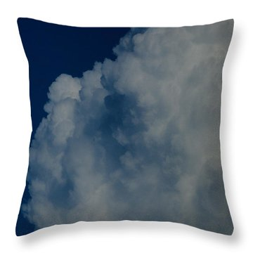 Cumulonimbus Clouds Throw Pillow by One Rude Dawg Orcutt