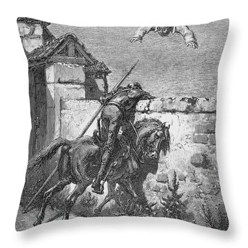 Don Quixote Throw Pillow by Granger