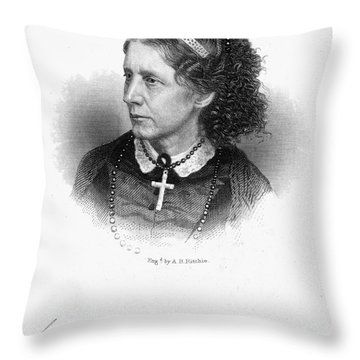 Harriet Beecher Stowe Throw Pillow by Granger