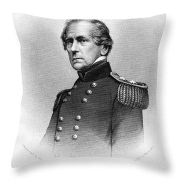 John Ellis Wool (1784-1869) Throw Pillow by Granger