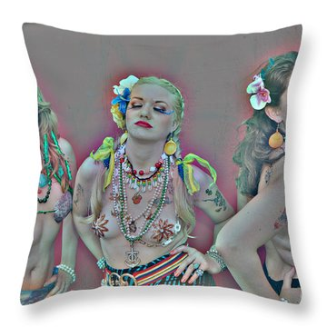 Mermaid Parade 2011 Coney Island Throw Pillow