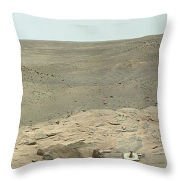 Panoramic View Of Mars Throw Pillow by Stocktrek Images