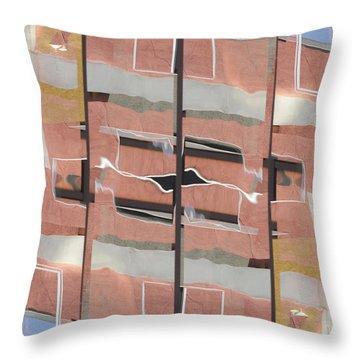 Urban Abstract San Diego Throw Pillow by Carol Leigh