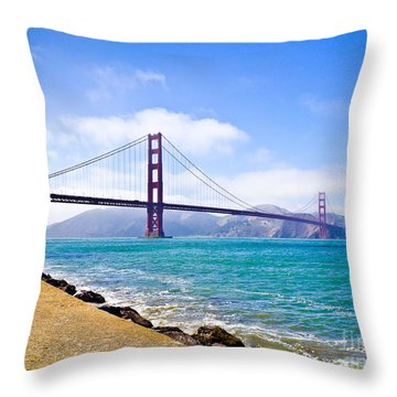75 Years - Golden Gate - San Francisco Throw Pillow