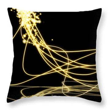 Abstract Lighting Effect  Throw Pillow by Setsiri Silapasuwanchai
