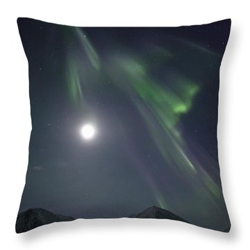 Aurora Borealis Or Northern Lights Throw Pillow by Robert Postma