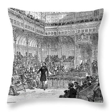 Benjamin Disraeli (1804-1881) Throw Pillow by Granger