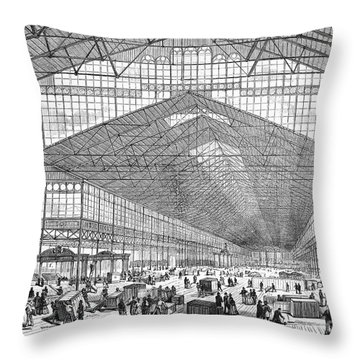 Centennial Fair, 1876 Throw Pillow by Granger