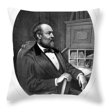 James A. Garfield (1831-1881) Throw Pillow by Granger