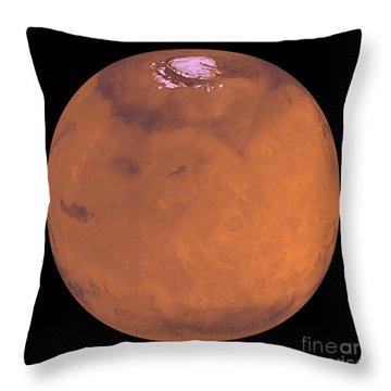 Mars Throw Pillow by Stocktrek Images