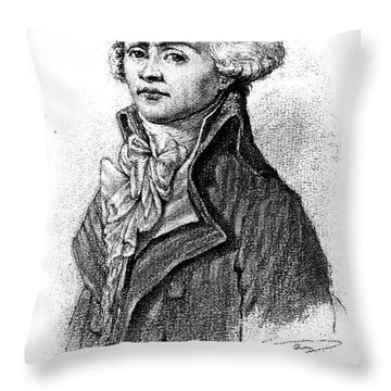 Maximilien Robespierre  Throw Pillow by Granger