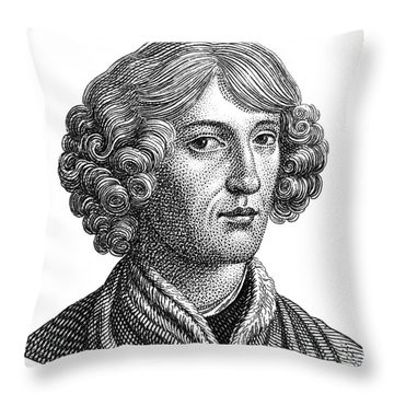 Nicolaus Copernicus, Polish Astronomer Throw Pillow by Science Source