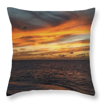 North Shore Sunset Throw Pillow by Vince Cavataio