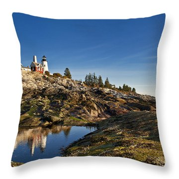 Pemaquid Point Lighthouse Throw Pillow by John Greim