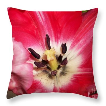 Tulipe Throw Pillow by Sylvie Leandre