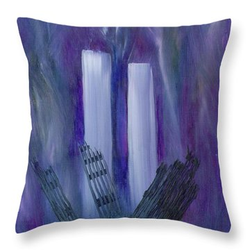 9-11 Remembering Throw Pillow