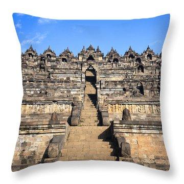 Borobudur Throw Pillow by MotHaiBaPhoto Prints