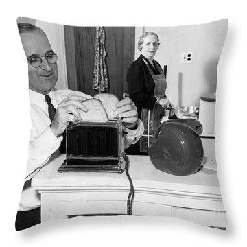 Harry S. Truman (1884-1972) Throw Pillow by Granger