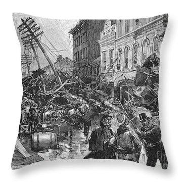 Johnstown Flood, 1889 Throw Pillow by Granger