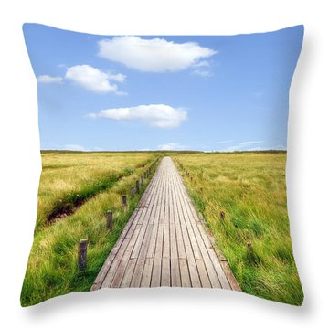 Kampen - Sylt Throw Pillow by Joana Kruse