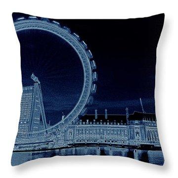 London Eye Art Throw Pillow by David Pyatt