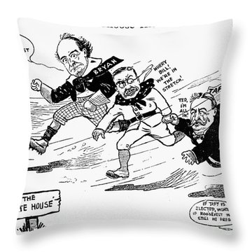 Presidential Campaign 1908 Throw Pillow by Granger