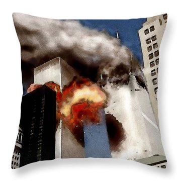 Throw Pillow featuring the painting 911 2 by Jann Paxton
