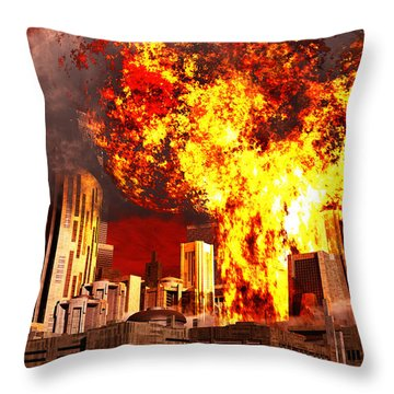 A 3d Conceptual Image Of A Stealth Throw Pillow by Mark Stevenson