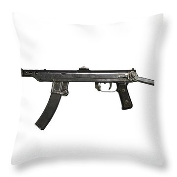 A 7.62mm Type 54 Machine Gun, A Variant Throw Pillow by Andrew Chittock