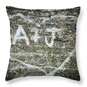 A And J Throw Pillow