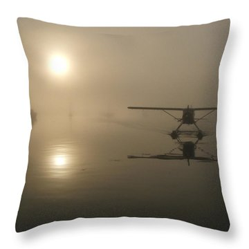 A Bad Day For Flying  Throw Pillow by Mark Alan Perry