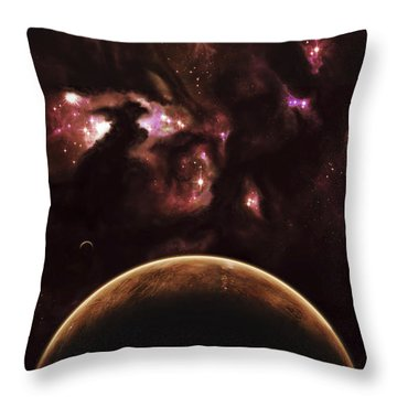 A Barren World Passes In Front Throw Pillow by Kevin Lafin