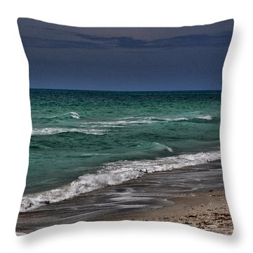 A Beach Morning Throw Pillow