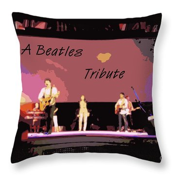 A Beatles Tribute Throw Pillow by Renee Trenholm