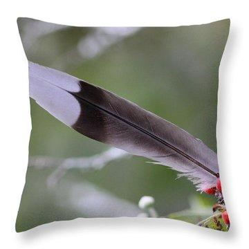 A Birds Christmas Throw Pillow by Travis Truelove